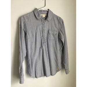 Vintage stripe button down shirt